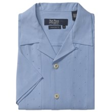Nat Nast Ready or Knot Silk Camp Shirt - Short Sleeve (For Men) in Periwinkle - Closeouts