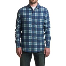 Nat Nast Scoundrel Plaid Silk Twill Shirt - Long Sleeve (For Men) in Cadet - Closeouts
