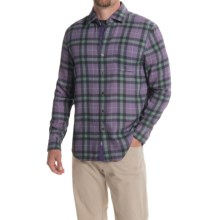 Nat Nast Scoundrel Plaid Silk Twill Shirt - Long Sleeve (For Men) in Iris - Closeouts