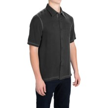 Nat Nast The New Originals Shirt - Silk Twill, Short Sleeve (For Men) in Black - Closeouts
