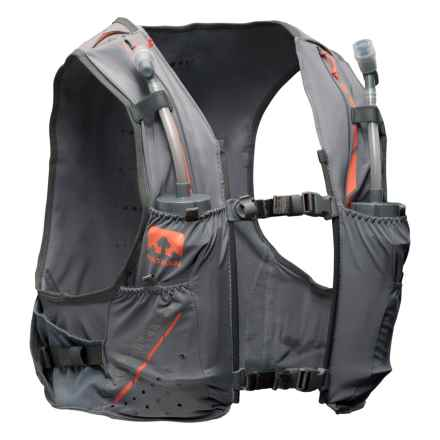 Nathan 4L VaporKrar Race Vest with Water Flasks - Two 12 oz. Flasks (For Men) in Steel Grey - Closeouts