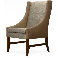 Nathan Anthony Royal Bahamas Side Chair - Upholstered, Beechwood in Café/Tweed