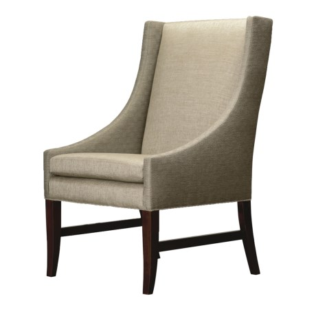 Nathan Anthony Royal Bahamas Side Chair - Upholstered, Beechwood in Flint/Platinum