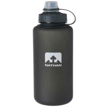 Nathan Big Shot Water Bottle - 32 oz., BPA-Free in Black/Black/Silver Frosted - Closeouts