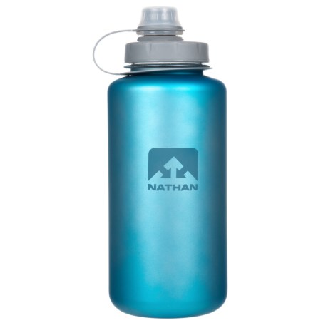 Nathan Big Shot Water Bottle - 32 oz., BPA-Free in Electric Blue/Wild Dove Iridescent