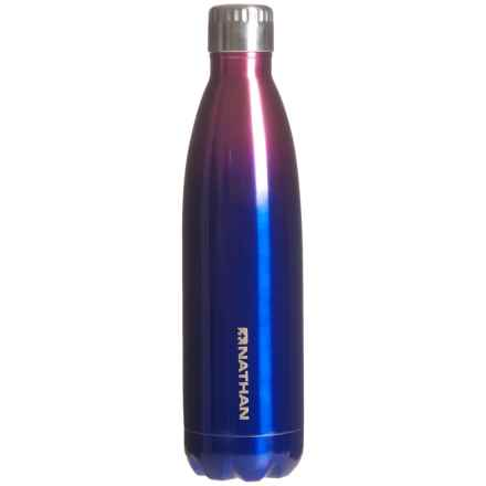 Nathan Chroma Stainless Steel Water Bottle - 25 oz., BPA-Free in Azalea/Monaco Blue - Closeouts