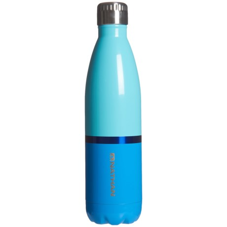 Nathan Chroma Stainless Steel Water Bottle - 25 oz., BPA-Free in Blue Rad/Cendre Blue