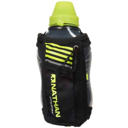 Nathan IceSpeed Insulated Handheld Water Bottle - 18 fl.oz. in Black/Safety Yellow - Closeouts