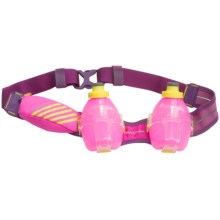 Nathan Mercury 2 Hydration Belt - Two 10 fl.oz. Water Bottles in Florafuchsia - Closeouts