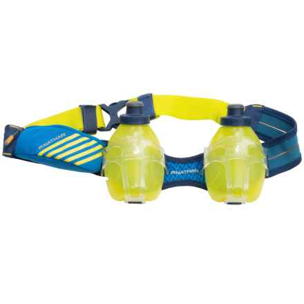 Nathan Mercury 2 Hydration Belt - Two 10 fl.oz. Water Bottles in Nathan Blue - Closeouts