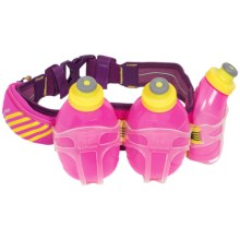 Nathan Mercury 3 Hydration Belt - 30 fl.oz., BPA-Free in Florofuchsia - Closeouts