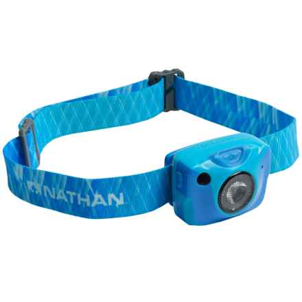 Nathan Nebula Fire Runner's Headlamp - Rechargeable, 192 Lumens in Atomic Blue - Closeouts