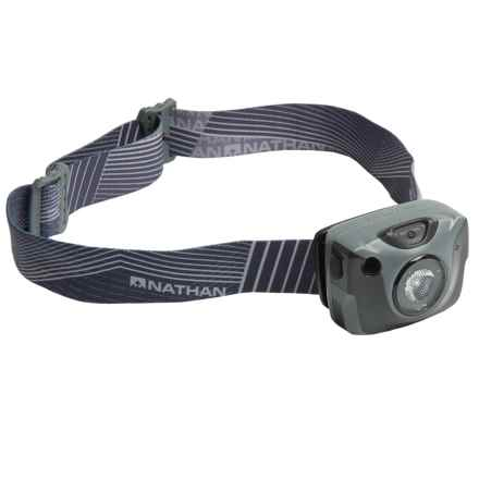 Nathan Nebula Fire Runner's Headlamp - Rechargeable, 192 Lumens in Steel Grey - Closeouts