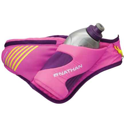 Nathan Peak Hydration Waist Pack with Water Bottle in Floro Fuchsia/Imperial Purple - Closeouts