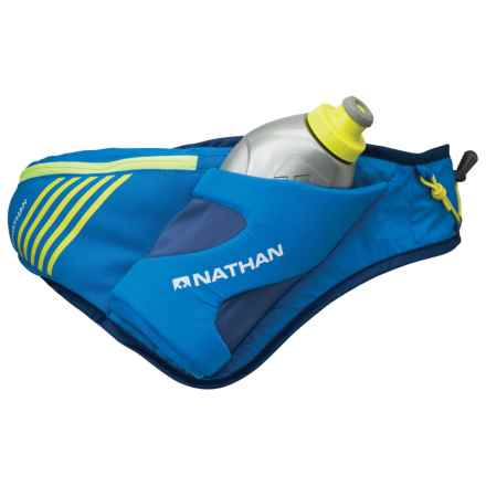 Nathan Peak Hydration Waist Pack with Water Bottle in Nathan Blue - Closeouts