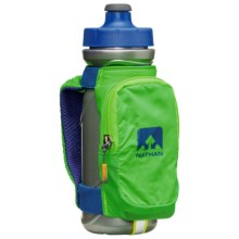 Nathan QuickDraw Plus Handheld Water Bottle - 22 fl.oz. in Gecko Green/Nathan Blue - Closeouts