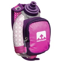Nathan Quickshot Plus Insulated Water Bottle - 8 fl.oz. in Florafuchsia - Closeouts
