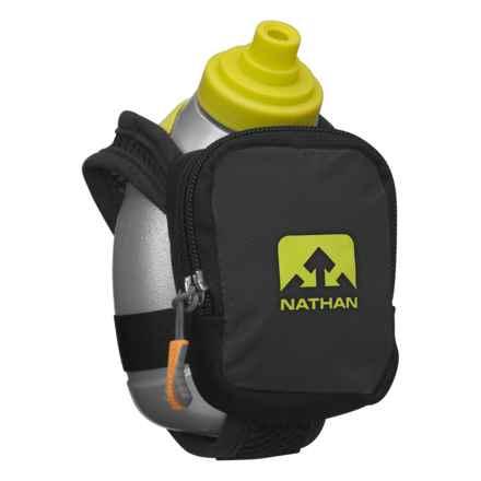 Nathan Quickshot Plus Water Bottle -10 fl.oz. in Black - Closeouts