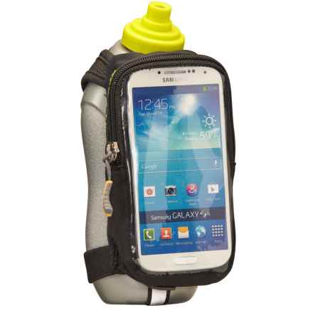 Nathan Speedview Handheld Hydration Pack with Phone Case in Black - Closeouts