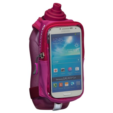 Nathan Speedview Handheld Hydration Pack with Phone Case in Vivacious