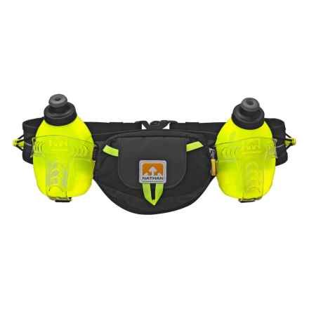 Nathan Trail Mix Plus Hydration Belt with Water Bottles in Black/Safety Yellow - Closeouts