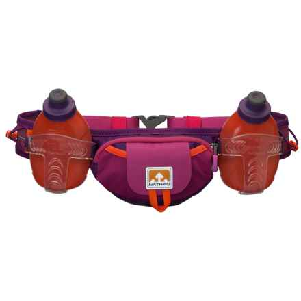 Nathan Trail Mix Plus Hydration Belt with Water Bottles in Very Berry/Viva - Closeouts