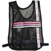 Nathan Tri Color Reflective Vest in Black/Pink Ribbon - Closeouts