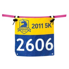 Nathan Tri Series Race Number Belt in Floro Fuchsia - Closeouts