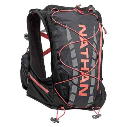 Nathan VaporAiress Hydration Backpack - 70 fl.oz. (For Women) in Black/Fusion Coral - Closeouts