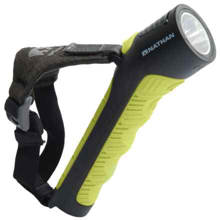 Nathan Zephyr 100 Runner's Flashlight - Rechargeable, 113 Lumens in Black/Sulfur - Closeouts