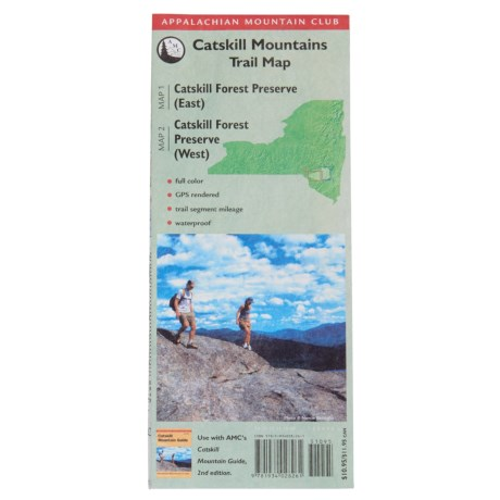 National Book Network Appalachian Mountain Club Catskill Mountains Trail Map - 2nd Edition, Topographical in See Photo
