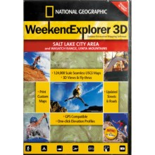 National Geographic Weekend Explorer 3D Mapping Software in Salt Lake City Area - Closeouts
