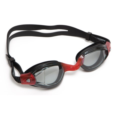 National Geographic Z289 Swimming Goggles in Black/Red/Smoke Lens