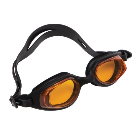 National Geographic Z814 Silicone Swimming Goggles in Pearl Black/Dark Amber