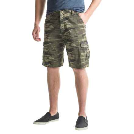 National Outfitters Cargo Shorts (For Men) in Green Bird Camo - Closeouts