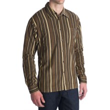 National Outfitters Corduroy Check Shirt - Long Sleeve (For Men) in Brown - 2nds