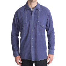 National Outfitters Corduroy Shirt - Long Sleeve (For Men) in Blue - 2nds