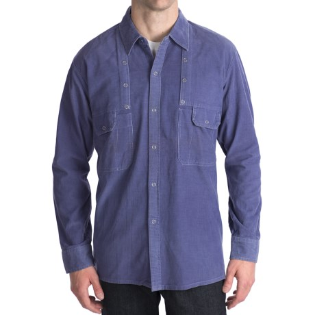 National Outfitters Corduroy Shirt - Long Sleeve (For Men) in Blue