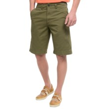 National Outfitters Flat-Front Shorts (For Men) in Light Olive - Closeouts