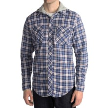 National Outfitters Hooded Flannel Shirt - Long Sleeve (For Men) in Blue - 2nds