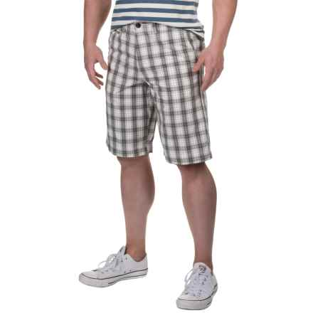 National Outfitters Plaid Shorts (For Men) in Grey/White/Tan - Closeouts