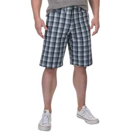 National Outfitters Plaid Shorts (For Men) in Navy/Light Blue - Closeouts