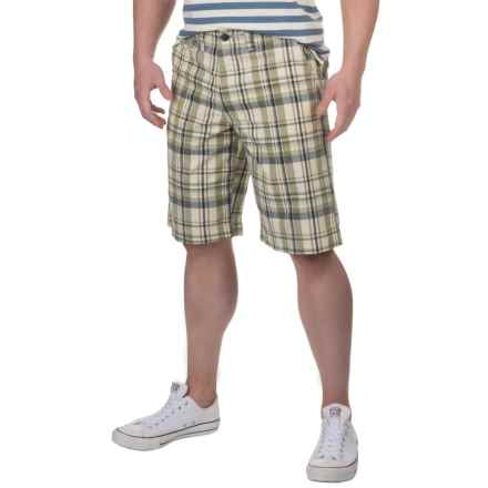 National Outfitters Plaid Shorts (For Men) in Sage/Olive - Closeouts