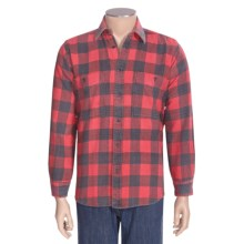 National Outfitters Yarn-Dyed Flannel Shirt - Long Sleeve (For Men) in Red - 2nds