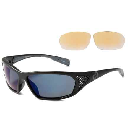 Native Eyewear Andes Sunglasses - Polarized, Extra Lenses in Asphalt Iron/Blue Reflex - Overstock