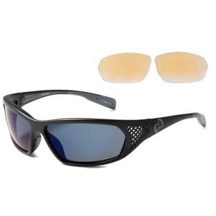 Native Eyewear Andes Sunglasses - Polarized, Extra Lenses in Asphalt Iron/Blue Reflex - Overstock