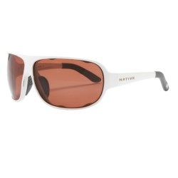 Native Eyewear Apres Sunglasses - Polarized, Interchangeable in Black Lime Burst/Grey