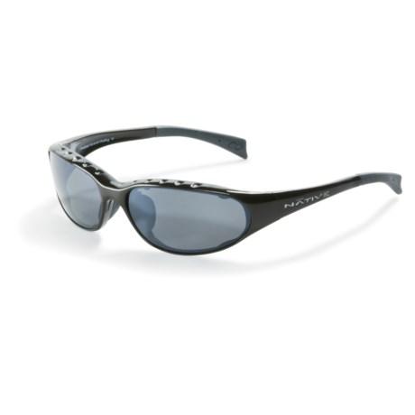 Native Eyewear Attack Sport Sunglasses - Polarized in Gunmetal W/Silver Reflex Lens