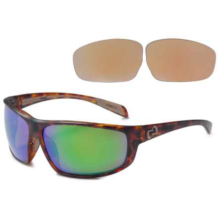 Native Eyewear Bigfork Sunglasses - Polarized, Extra Lenses in Desert Tortoise/Green Reflex - Overstock