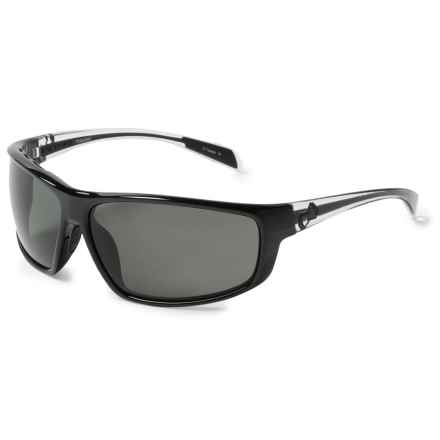 Native Eyewear Bigfork Sunglasses - Polarized in Gloss Black/Crystal Gray - Closeouts